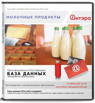 База данных Молочные продукты , Россия