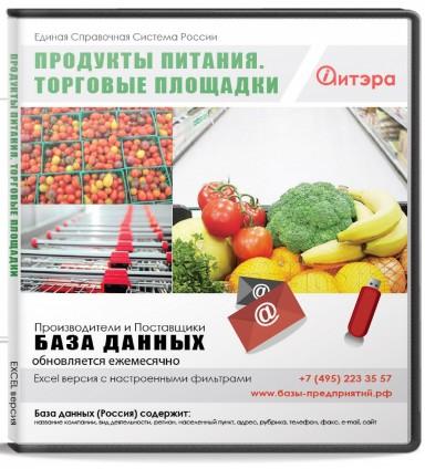 База данных Продукты питания (Торговые площадки) , Москва и МО